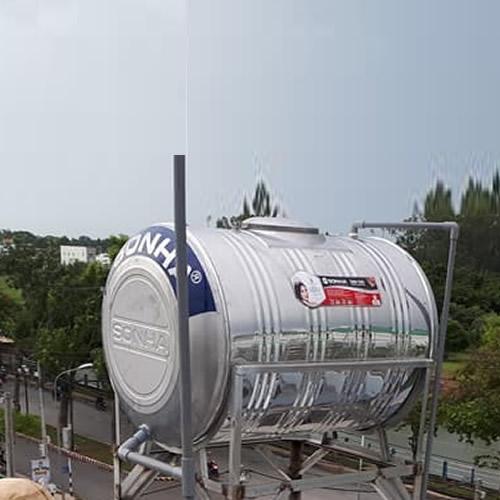 BỒN INOX SƠN HÀ 500L NGANG