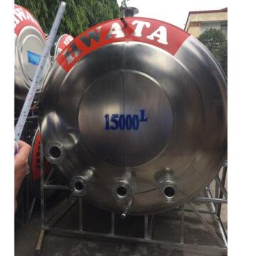 Bồn nước inox Hwata 15000 lít nằm ngang