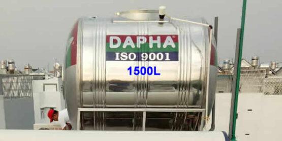 Bồn nước inox Dapha R 1500l ngang