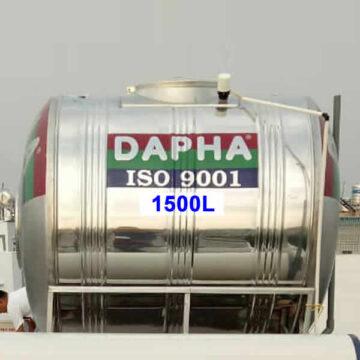 Bồn nước inox 1500l nằn Dapha R