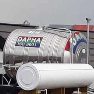 Bồn nước inox Dapha R 2000l ngang