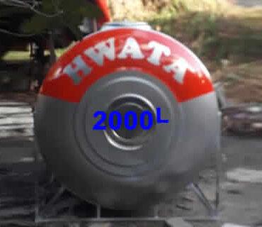 BỒN NƯỚC INOX HWATA 2000 LÍT NẰM
