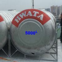 BỒN NƯỚC INOX 5000L-NGANG HWATA