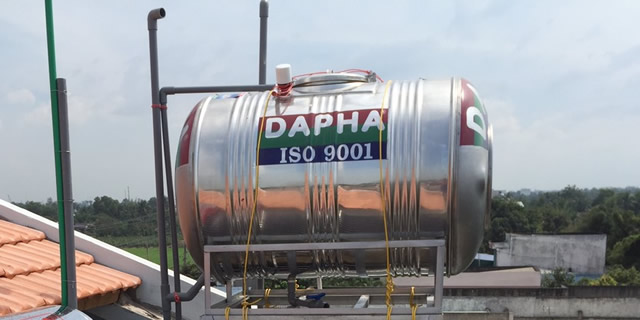 Bồn nước inox Dapha R 500l nằm