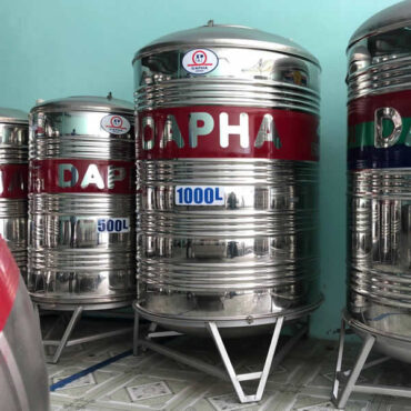 BỒN NƯỚC INOX DAPHA 1000L ĐỨNG