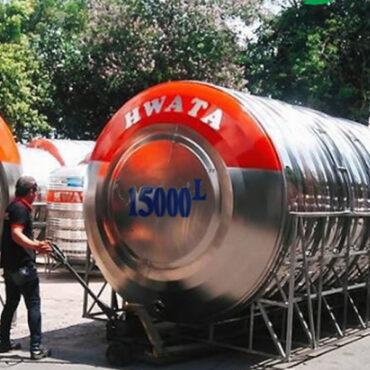 BỒN NƯỚC INOX15000 LÍT HWATA