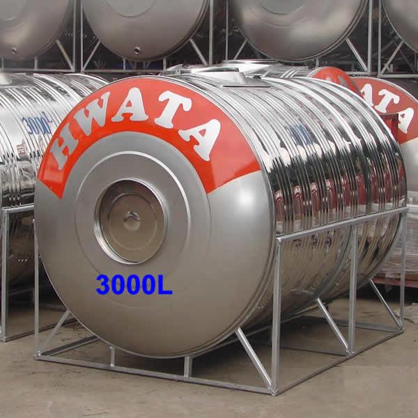 BỒN NƯỚC INOX HWATA 3000L NGANG