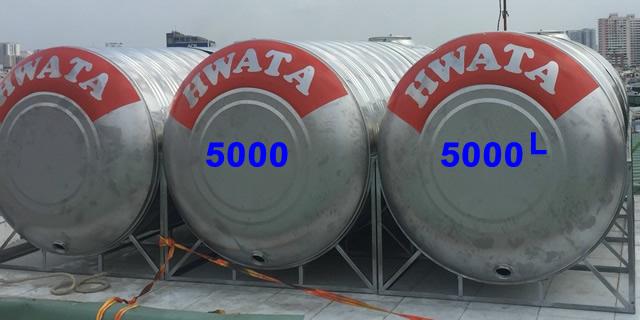 BỒN ƯỚC INOX HWATA 5000 LÍT NẰM