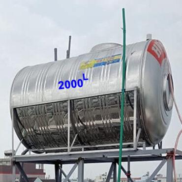 BỒN NƯỚC INOX 2000L NGANG HWATA