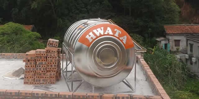 BỒN NƯỚC INOX HWATA 1000L NGANG