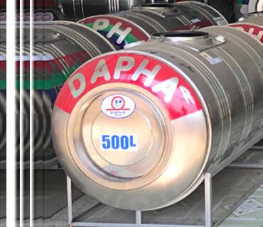Bồn nước inox Dapha 500 lít nằm