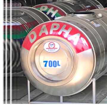 Bồn nước inox Dapha 700 lít nằm
