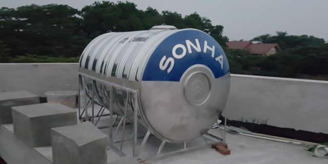 BỒN INOX SƠN HÀ 5000L NGANG