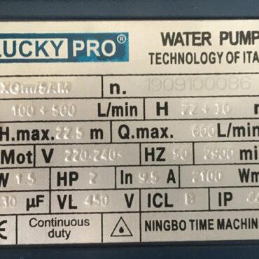 MOTOR BƠM LUCKY PRO 2HP XGm/5AM
