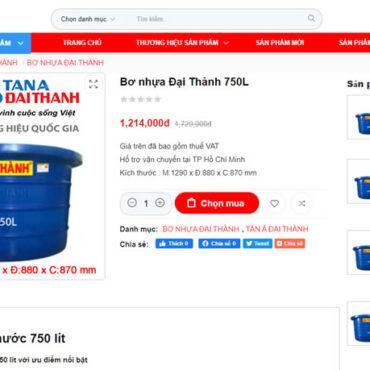 Bơ nhựa 750L Đại Thành
