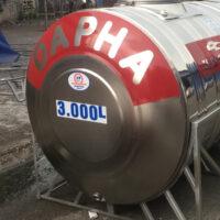 Bồn nước inox 3000l ngang Dapha
