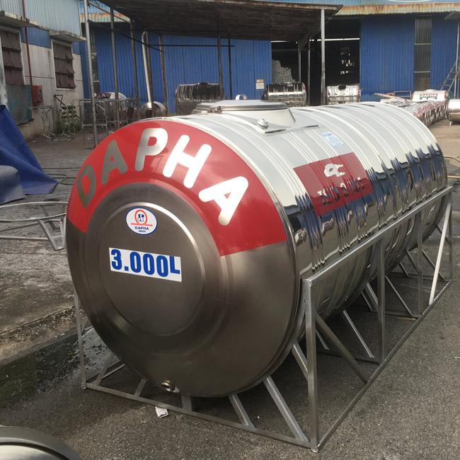 Bồn nước inox 3000 lít nằm Dapha